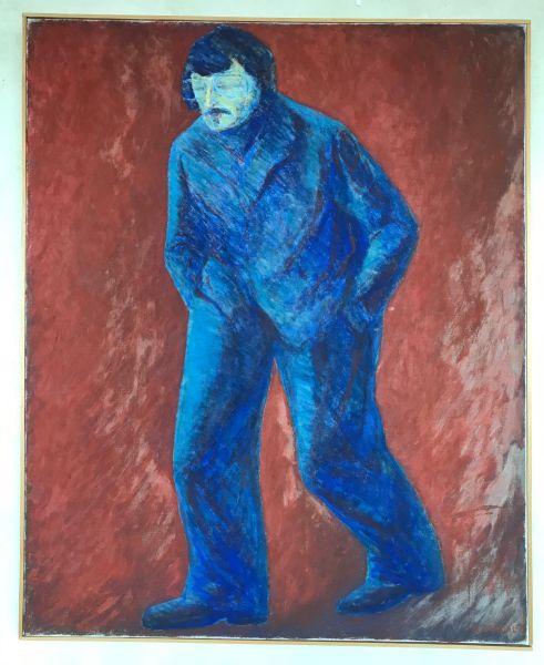 Henry Bardal - Gående mann. selvportrett