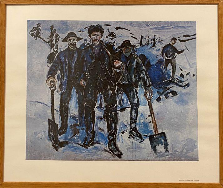 Edvard Munch - Arbeidere i snø